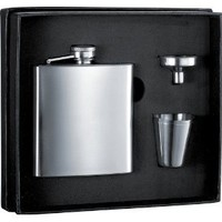 6 oz Stainless Steel Flask Gift Set