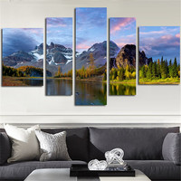 2016 No Framed Canvas Art Wall Painting River And Mountain Landscape Modular Picture On The Wall Poster And Prints Home Decor