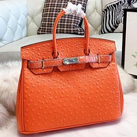 Hermes New fashion leather shoulder bag crossbody bag handbag Orange