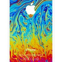 iZERCASE Colorful Abstract RUBBER iphone 5C case - Fits iphone 5C T-Mobile, AT&T, Sprint, Verizon and International