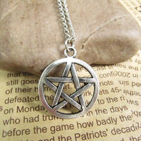 Necklace,Supernatural inspiron,Pentagram supernatural Pentacle necklace with charm chain jewelry antique jewelry steampunk gift