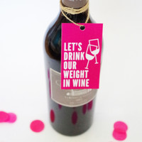 Weight in Wine Gift Tag (Set of 4)