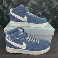 Morechoice Tuhz Nike Air Force 1 Mid Sneakers Velcro Casual Skaet Shoes Aa1118-007