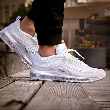 Hipgirls NIKE AIR MAX 97 Popular Women Men Casual Sports Running Shoes Couple Shoes White