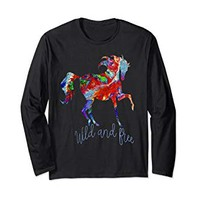OLena Art Colorful Horese Design Wild and Free