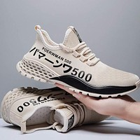 Autumn Men's Sneakers Casual Shoes Men Vulcanize Breathable No-slip Male Lace Up Lightweight Man Footwear White Sports Shoes