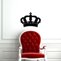 Wall Vinyl Decal Sticker Removable  Princess King  Crown  TK60