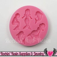 Dolphin and Mermaid SILICONE MOLD Food Grade Flexible