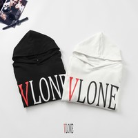 HCXX 19Sep 651 Vlone Big Logo Print Cotton hooded Sweater
