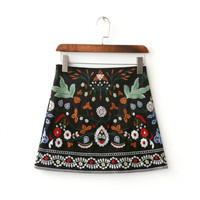 Women's Fashion Summer Stylish Heavy Work Embroidery Skirt [10203234183]