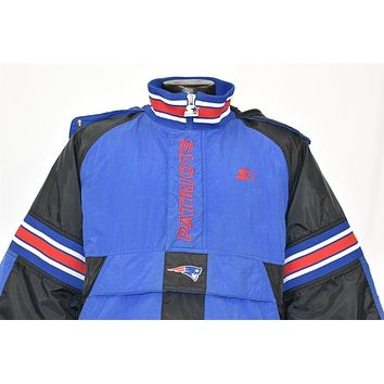 90s New England Patriots Football Jacket Youth Large