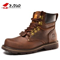 Z. Suo men boots. Fashion first layer of leather men's boots high-quality tooling boots man botas hombre zs16508