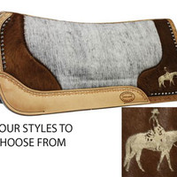 Saddles Tack Horse Supplies - ChickSaddlery.com Felt Pad with Leather Tool and Hair on Hide with Laser Etching