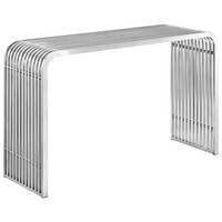 Pipe Stainless Steel Console Table Silver