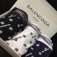 Balenciaga Tide brand men's breathable cotton comfortable boxer briefs three-piece