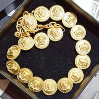 Gold Versace Fashion New More Human Head Necklace