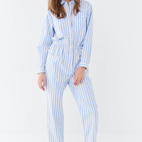UO Jacey Striped Utility Jumpsuit   Urban Outfitters