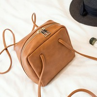 Casual Squared Pu Crossbody Bag
