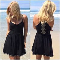Hugs & Kisses Summer Dress In Black