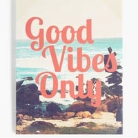 Good Vibes Beach Stretched Canvas | Canvases & Wood | rue21