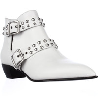 Marc by Marc Jacobs Carroll2 Strap Stud Ankle Boots - White