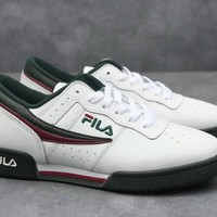 """Fila Original Fitness"" Men Sport Casual Retro Fashion Leather Plate Shoes Sneakers"