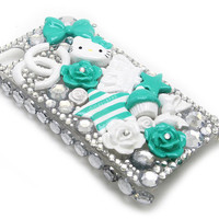 Mint Hello Kitty 3D Phone Case (Decoden)