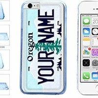 Personalized Custom Oregon License Plate Clear Plastic Phone Case Back Cover Apple iPhone 6 Plus (5.5 inches screen) includes BleuReign(TM) Cloth and Warranty Label