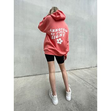 Annoyed At First Sight Hoodie - Coral