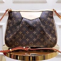 LV Fashion New monogram print leather shopping leisure shoulder bag crossbody bag