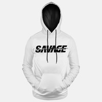 Sleefs Savage White Hoodie (Ships in 2 Weeks)