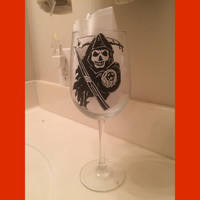 Sons of Anarchy Reaper Wine Glass