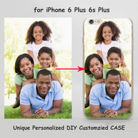 Unique Personalized Customized DIY Printing hard transparent clear Cover Case for Apple iPhone 7 6 6s Plus SE 5 5s 4 4s 5c