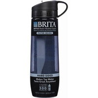 Brita 23.7 Ounce Hard Sided Water Bottle with 1 Filter, BPA Free, Gray (Designs May Vary)