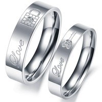 Lock and key to my heart couples rings