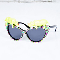 Spangled Ravey Rhino Glasses - Urban Outfitters