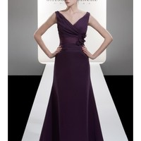 Chic Tank Style V-Neck Satin A-Line Bridesmaid Dress With Flattering Pleated Bodice And Delicate Handmade Flowers SB2213