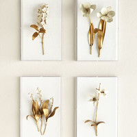 Tommy Mitchell Gilded Flower Studies in Acrylic