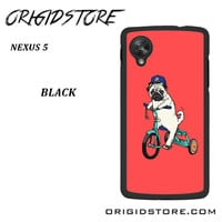 Pug Bicycle For Google Nexus 5 Case UY