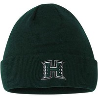 Mens Hawaii Warriors Top of the World Green Simple Knit Beanie