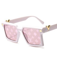 LV Louis Vuitton Fashion New Street Women Men Models Large Frame Driving Polarized Sunglasses