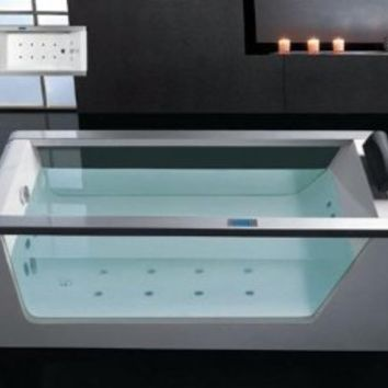 Whirlpool Bathtub With Inline Heater Drainage Device Waterfall Cascade Style Water Inlet Sydney Whirlpool System & Drainage