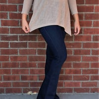 Trendy Flare Jeans Blue