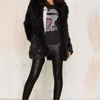 Amuse Society In A Manner Of Sequin Leggings - Black