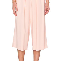 Crepe Culottes in White Peach