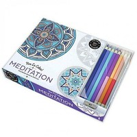 Adult Coloring Book Set with Pencils - Meditation