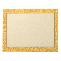 Floral in Orange and Gold Notepad
