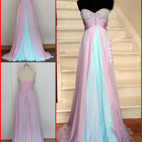 Formal Chiffon Long Prom Dresses Ball Gown Cocktail Party Evening Dresses