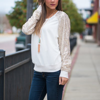 All Star Top, Ivory/Gold