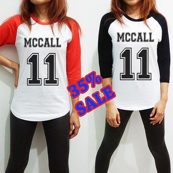 Scott Mccall Shirt Clothing 11 TEEN WOLF Long Sleeve Raglan Baseball Women Men Tee Tshirt